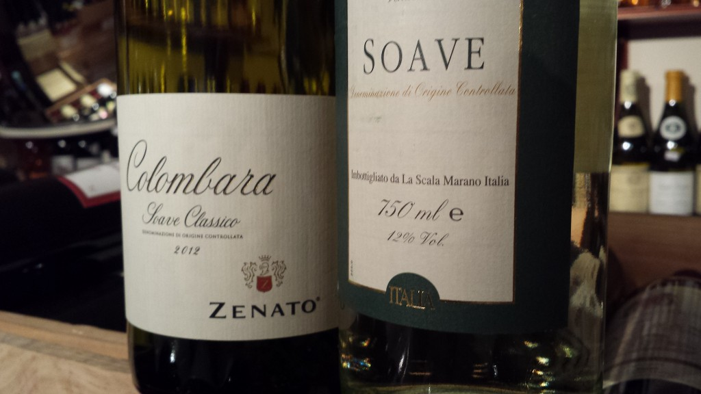 Bottles of Soave