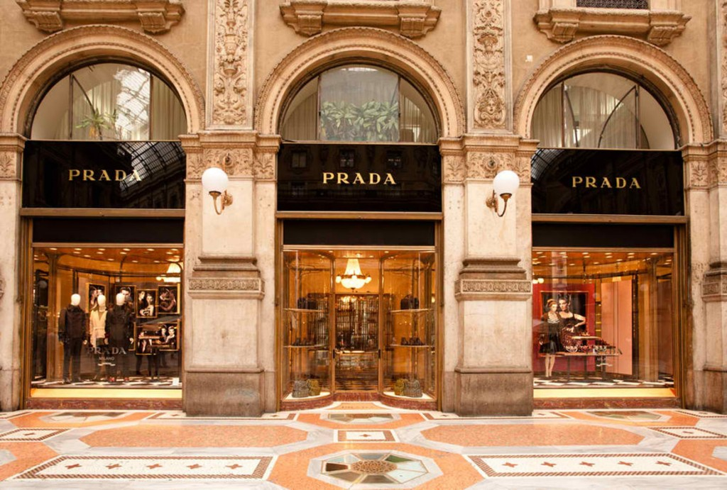 PRADA boutique in Milan
