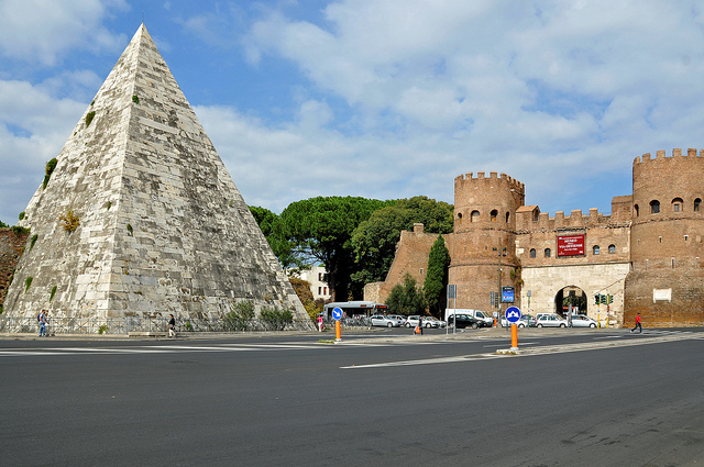 Pyramid of Cestius in Rome