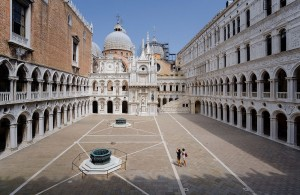 Courtyard of Doge's Palace in Venice