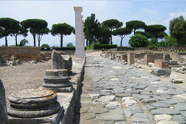 Appian Way or Via Appia in Rome