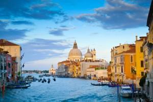 Canal Grande and Santa Maria della Salute church Venice