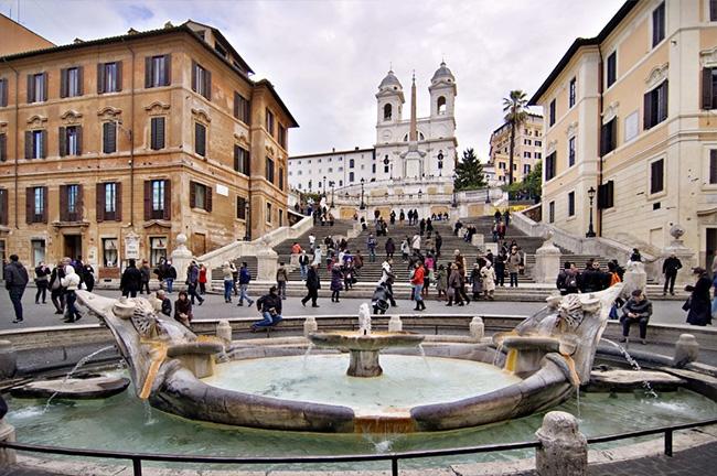 Spanish Steps in Piazza di Spagna in Rome