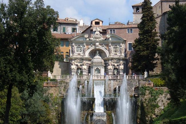 Villa d'Este in Tivoli in Rome