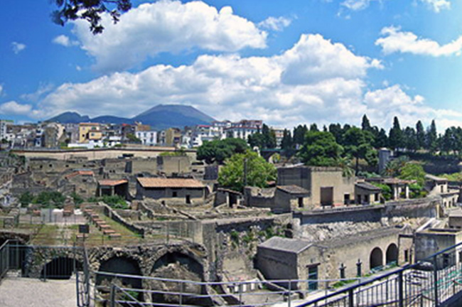 Herculaneum and Vesuvius, Italy