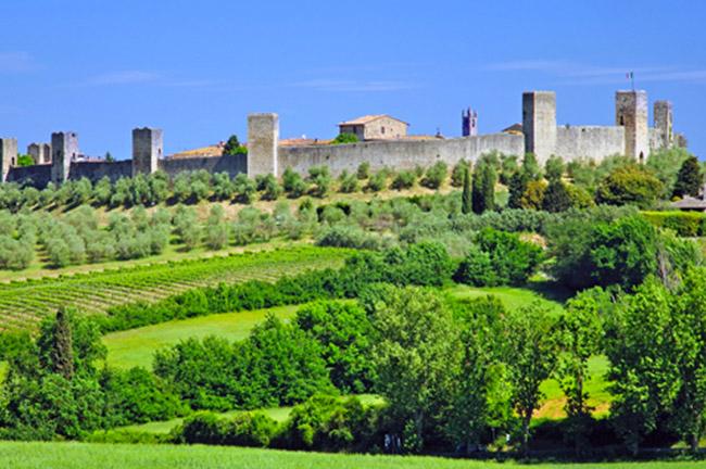 Monteriggioni in Tuscany, Italy