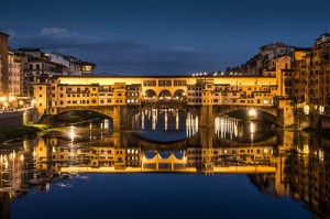 Ponte Vecchio over Arno River in Florence