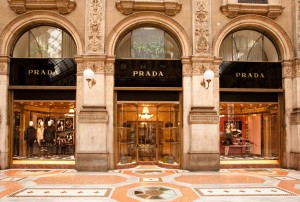 PRADA boutique in Milan