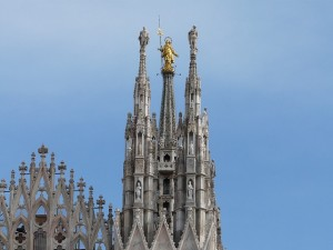 Madonnina on top of Milan Cathedral