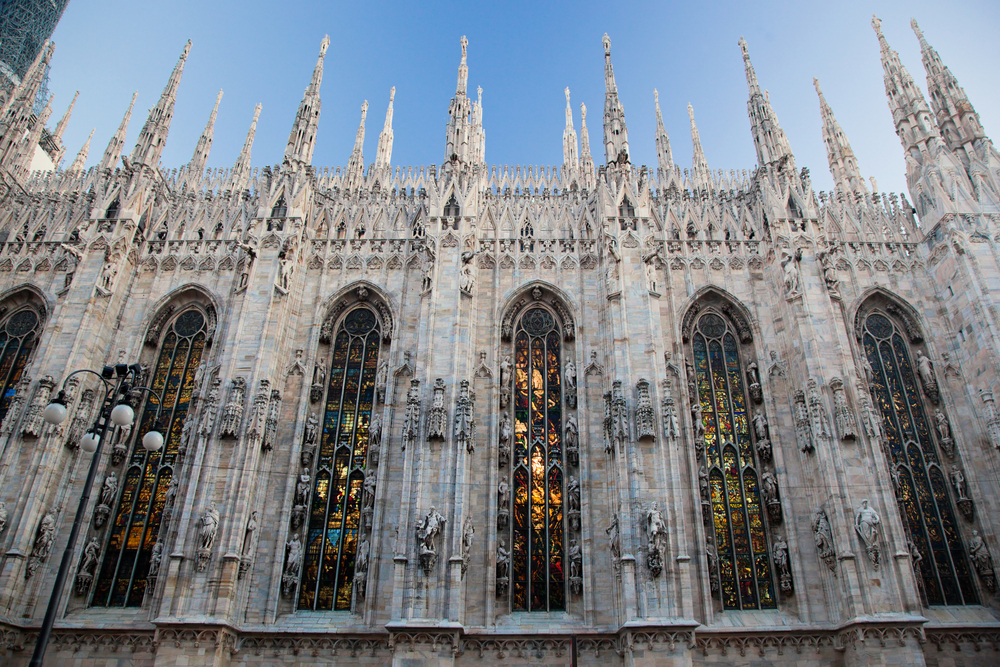 Milan Cathedral at Piazza del Duomo. Lombardy, Italy.
