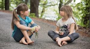 Children speaking the Italian Language