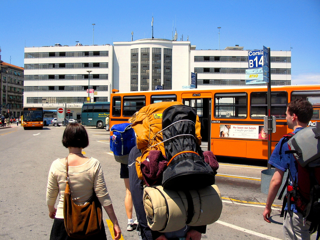 Backpacker in Italy